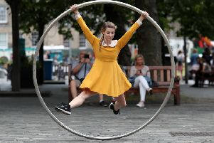 Aerial and contemporary circus performer Bev Grant from the Edinburgh Festival Fringe show Heroes (Picture: Andrew Milligan/PA Wire)