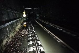 Flooding near the Winchburgh tunnel. Picture: ScotRail