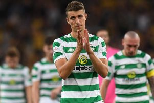 Jozo Simunovic suffered disappointment last August when Celtic lost to AEK Athens in Champions League qualifying. Picture: Craig Williamson/SNS