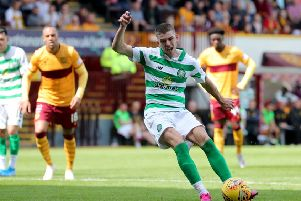 Ryan Christie rounded off what was ultimately a very comfortable win for Celtic at Fir Park by scoring a penalty in the 86th minute. Picture: PA