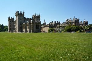 The three-vehicle crash happened outside the rear entrance to Floors Castle in Kelso.