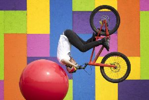 Danny MacAskill made his Fringe debut this year in the Drop & Roll Show on the Meadows before suffering a knee injury.