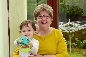 Marion Fellows with grand-daughter Saoirse (two and a half) at her home in Wishaw.