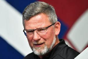 A wall of boos greeted Craig Levein and his players following Saturday's 0-0 draw with Ross County. Picture: Bill Murray/SNS