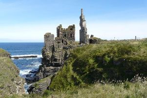 The incident occurred at Sinclair Castle near Wick.