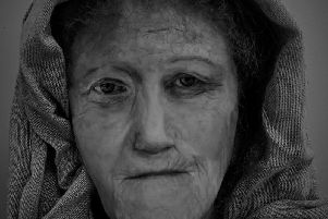 The reconstructed face of 'Hilda' who lived on the Isle of Lewis around 2,000 years ago. PIC: University of Dundee.