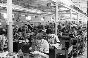 The Saxone shoe factory in Kilmarnock - the largest of its kind in Scotland.