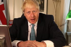 UK Prime Minister Boris Johnson on his own Facebook page. Picture: PA
