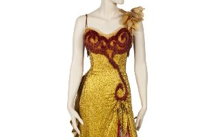 A gown worn by Marilyn Monroe in the 1954 film River of No Return. Picture: Julien's Auctions/PA Wire