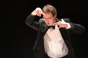 Aapo Hkkinen gave an earnest performance of Bachs transcription of his E major Violin Concerto. Picture: Maarit Kytoharju