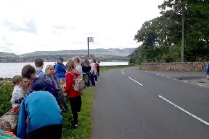 Bus queue outside Brodick Castle on Monday. Picture: The Scotsman