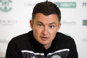 Hibs manager Paul Heckingbottom wants to see a reaction from his players