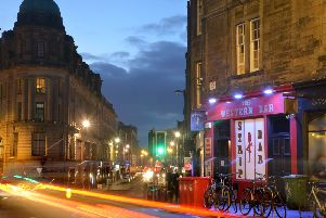 The Western Bar and Burke and Hare lap-dancing clubs in Edinburgh's West Port (Picture: Jon Savage)