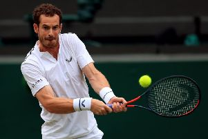 Sir Andy Murray in action. Picture: Mike Egerton/PA Wire.