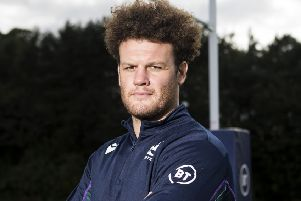 Duncan Taylor is back from injury and will start for Scotland against France. Picture: Bruce White/SNS