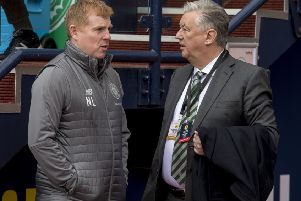 Celtic manager Neil Lennon with chief executive Peter Lawwell. Picture: SNS