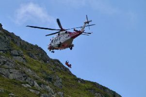 A casualty was airlifted to hospital on Saturday. Picture: @astrohell'/Twitter