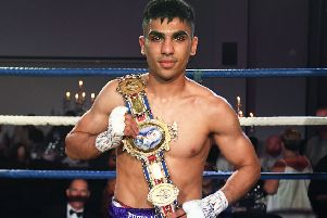 Kash Farooq retained his British bantamweight title and is now eyeing a fight with Lee McGregor. Picture: SNS