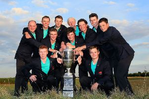 Great Britain & Ireland will be bidding to repeat a 2015 Walker Cup win over the Americans in this year's match at Royal Liverpool. Picture: Getty Images
