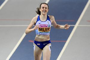 Laura Muir suffered a muscle injury during the final lap of her recent 1,500m victory at the Diamond League meeting in London. Picture: SNS.