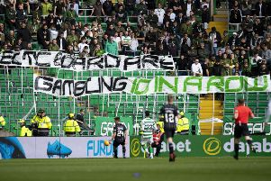 Celtic supporters made their feelings clear during the Betfred Cup win over Dunfermline. Picture: Craig WIlliamson/SNS