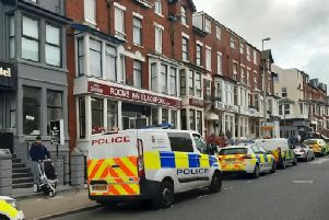 A toddler is in a serious condition after falling from the window of a hotel in Blackpool, police have said. Picture: SWNS