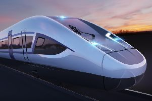 The proposed design of a HS2 train issued by Siemens
