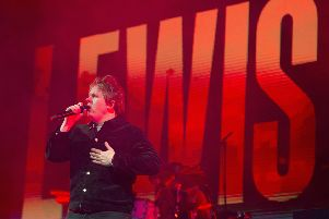 Scots pop star Lewis Capaldi performs in Princes Street Gardens. Picture: Neil Hanna