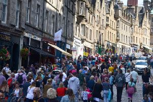 For three weeks in August the population of Edinburgh doubles. Picture: Jon Savage