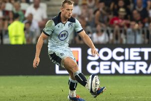 Rory Hutchinson in action for Scotland against France in Nice. Picture. Gary Hutchison/SNS/SRU