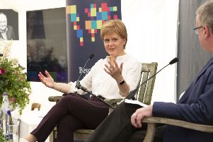 Nicola Sturgeon appeared at the Beyond Borders Book Festival on Sunday. The Scottish Government is expected to bring forward motion against no-deal this week