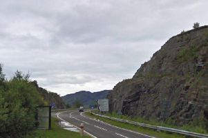 The incident happened at about 3pm on Sunday on the A830. Picture: Google Street View