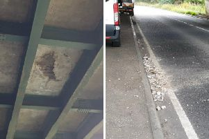 The underside of the bridge carrying the M9 over the B800. Pic: Chris Brodley.