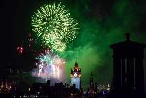 The Virgin Money Fireworks Concert, the final event of the 2019 Edinburgh International Festival, as seen from Calton Hill PIC: Ian Georgeson
