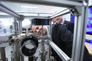 Scottish finance secretary Derek Mackay officially launched the M Squared facility. Picture: Contributed