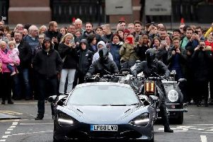 A car chase scene filmed in Glasgow for the Fast & Furious film franchise