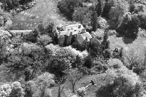 Aerial view of Cammo House