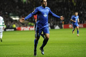 Mohamed Elyounoussi scored for Molde against Celtic in the Europa League in season 2015-16. Picture: Getty Images