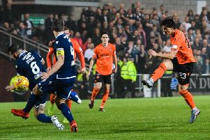 Ian Harkes got Dundee United's fifth goal just after half-time. Picture: Ross Parker/SNS