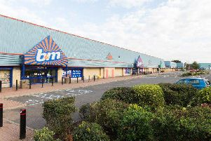 St Catherine's Retail Park where the fire burned through a Pets at Home store and part of the B&M building.