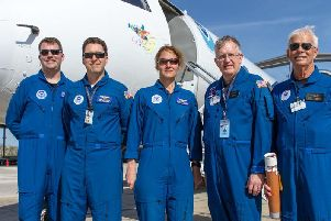 The NOAA Hurricane Hunters team.