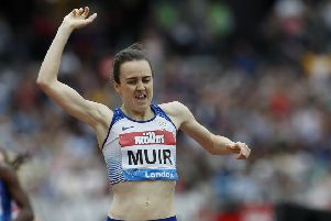 Laura Muir was injured at the Anniversary Games in London in July but has been picked for the World Championships in Doha. Picture: Ian Kington/AFP/Getty