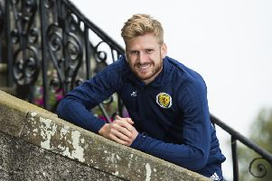 Stuart Armstrong reports the attitude in the Scotland camp is 'positive'. Picture: SNS.