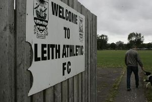 The alleged incident took place on the pitch at Leith Links. Picture: JPIMedia