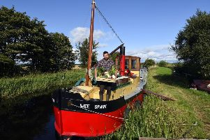 Iain withers market gardener at narrow boat farm''''for the first time in around 150 years, local produce will be transported from farm to market via canal barge. Picture: Lisa Ferguson