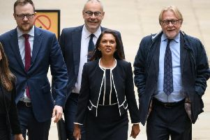 Gina Miller arrives at the Royal Courts of Justice. Picture: AFP