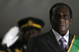 Zimbabwean President Robert Mugabe is sworn in for a sixth term in office in Harare in 2008 (Picture: Alexander Joe/AFP/Getty Images)