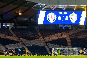 It was a long evening for Steve Clarke, Scotland players and the fans. Picture: SNS
