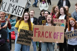 Young climate change protesters.