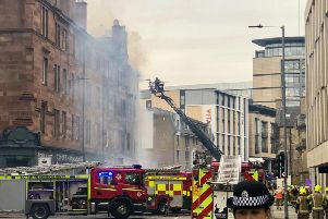 Emergency services have been forced to retreat from the scene of the incident due to structural damage. Picture: JPIMedia